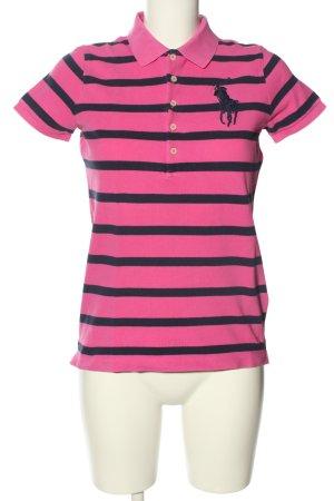 Ralph Lauren Koszulka polo różowy-czarny Wzór w paski W stylu casual
