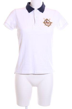 Ralph Lauren Polo-Shirt weiß-blau Casual-Look