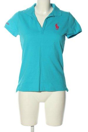 Ralph Lauren Polo-Shirt türkis-rot Casual-Look