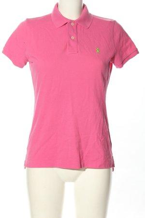 Ralph Lauren Polo rosa-verde stampa integrale stile casual