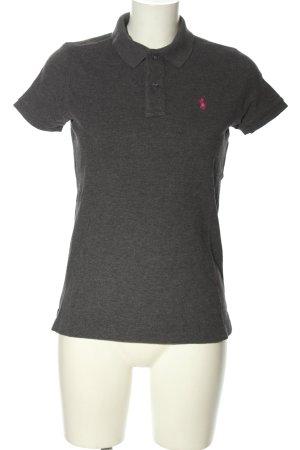 Ralph Lauren Polo-Shirt hellgrau-pink meliert Casual-Look