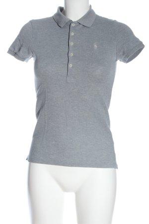 Ralph Lauren Polo-Shirt hellgrau meliert Casual-Look