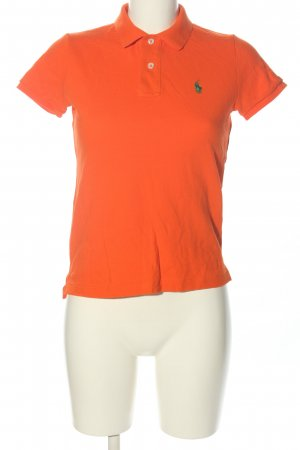 Ralph Lauren Polo Shirt red-green cable stitch casual look
