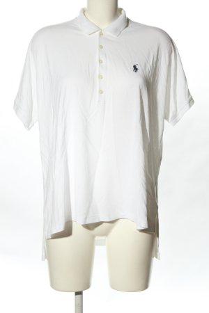 Ralph Lauren Polo-Shirt weiß Schriftzug gestickt Casual-Look