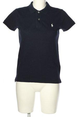Ralph Lauren Camiseta tipo polo negro letras bordadas look casual