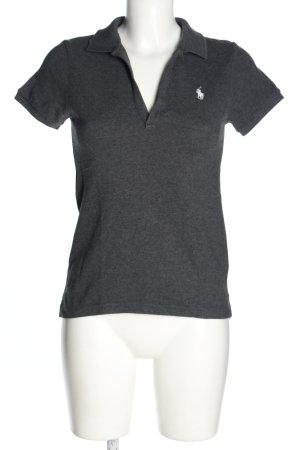 Ralph Lauren Polo shirt lichtgrijs gestippeld casual uitstraling