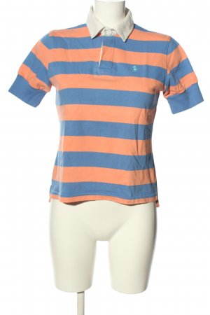 Ralph Lauren Polo-Shirt blau-hellorange Streifenmuster Casual-Look