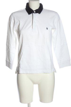Ralph Lauren Polo-Shirt weiß-schwarz Casual-Look