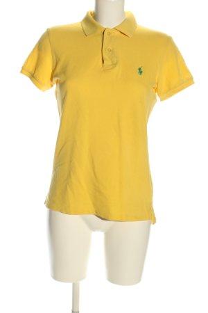 Ralph Lauren Polo-Shirt blassgelb Schriftzug gestickt Casual-Look