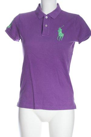 Ralph Lauren Polo-Shirt lila Motivdruck schlichter Stil