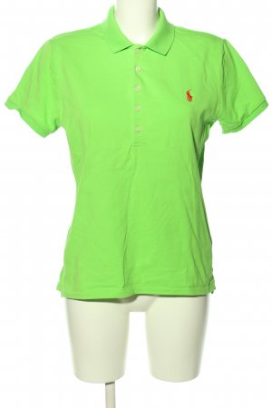 Ralph Lauren Polo-Shirt blassgelb-rot Casual-Look
