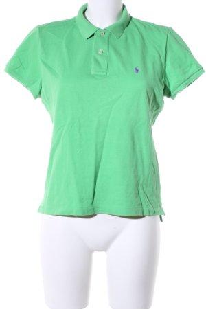 Ralph Lauren Camiseta tipo polo verde estampado temático look casual