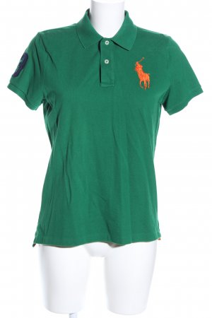 Ralph Lauren Polo-Shirt grün-hellorange Casual-Look