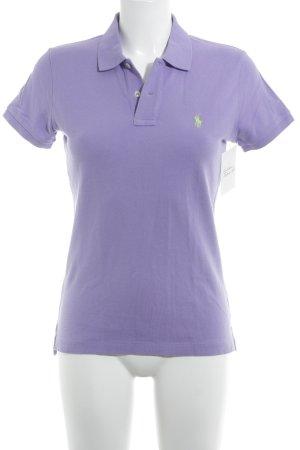 Ralph Lauren Camiseta tipo polo púrpura estilo clásico