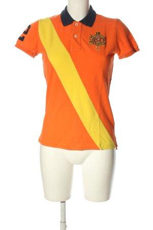 Ralph Lauren Polo-Shirt hellorange Schriftzug gedruckt Casual-Look