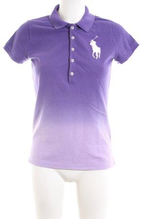 Ralph Lauren Polo-Shirt lila Farbverlauf Casual-Look