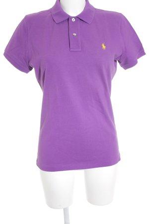 Ralph Lauren Polo-Shirt lila-gelb Casual-Look