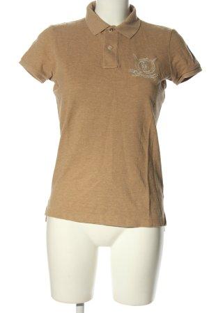 Ralph Lauren Polo-Shirt nude-goldfarben meliert Casual-Look