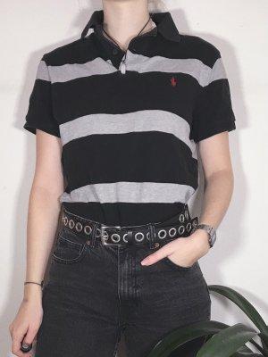 Ralph Lauren Polo Shirt schwarz grau gestreift