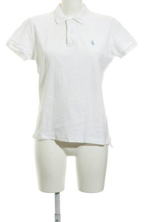 Ralph Lauren Polo-Shirt weiß schlichter Stil