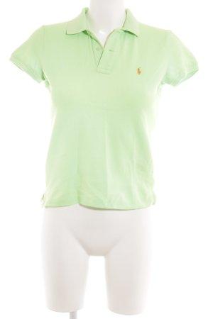 Ralph Lauren Polo-Shirt wiesengrün-neonorange klassischer Stil