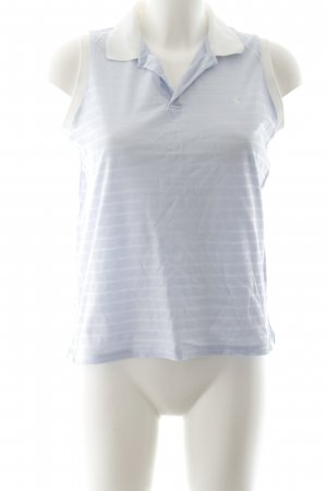 Ralph Lauren Polo Top baby blue striped pattern casual look