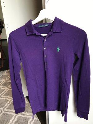 Ralph Lauren Polo shirt donkerpaars Katoen
