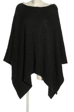 Ralph Lauren Poncho black casual look
