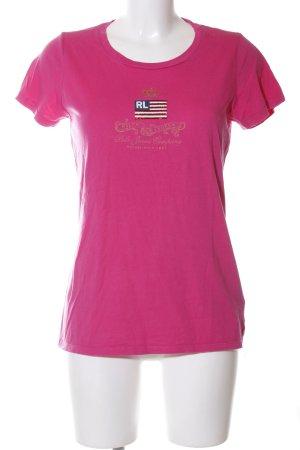 Ralph Lauren Print-Shirt pink Motivdruck Casual-Look