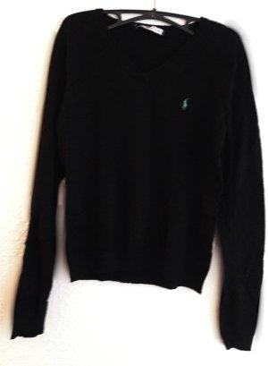 Ralph Lauren Wełniany sweter czarny Wełna
