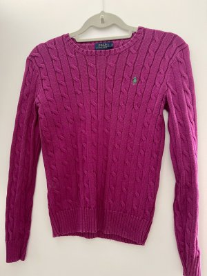 Ralph Lauren Cienki sweter z dzianiny fiolet-fioletowy