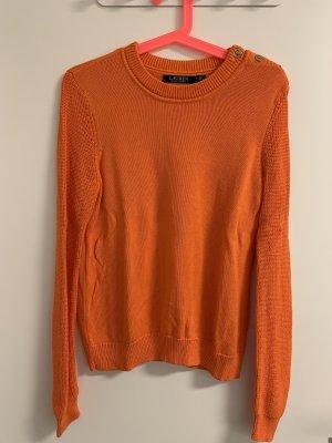 Ralph Lauren Pull à gosses mailles orange