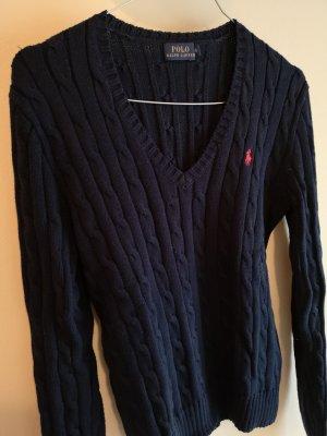 Ralph Lauren Pullover a maglia grossa blu scuro