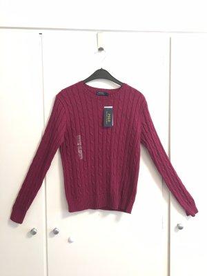 Ralph Lauren Pullover dunkelrot, NEU mit Etikett