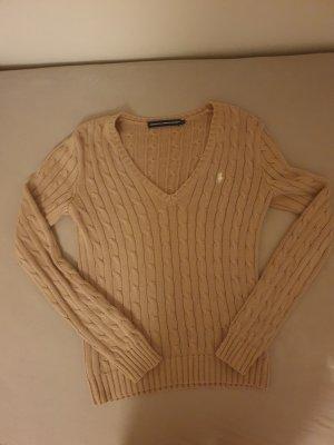 Ralph Lauren Sport Jersey trenzado marrón claro-beige