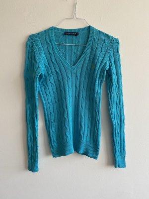 Ralph Lauren V-Neck Sweater neon blue