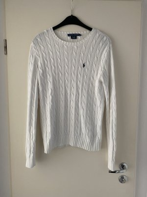 Ralph Lauren Cable Sweater white