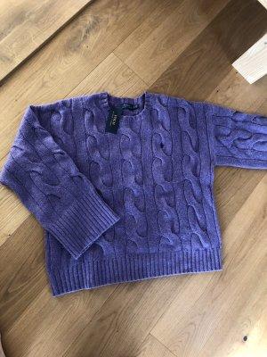 Polo Ralph Lauren Maglione intrecciato viola-grigio-blu-viola
