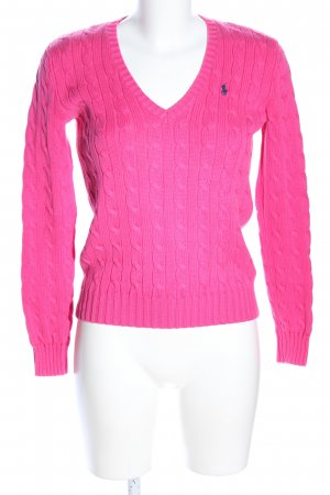 Ralph Lauren Sport Cable Sweater pink cotton