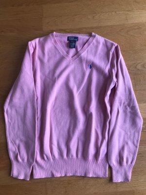 Ralph Lauren Jersey con cuello de pico rosa Algodón