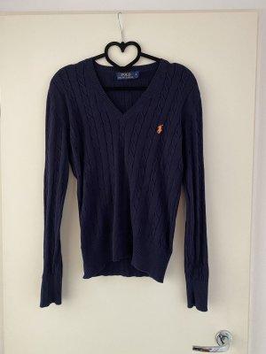 Polo Ralph Lauren Jersey con cuello de pico azul oscuro