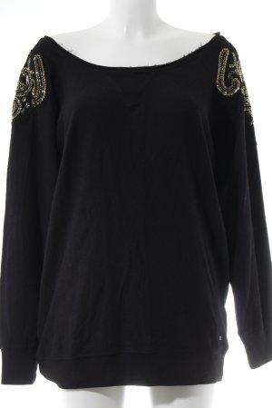 Ralph Lauren Pullover schwarz-goldfarben Street-Fashion-Look