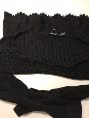 Ralph Lauren Pullover schwarz s 36 spitze