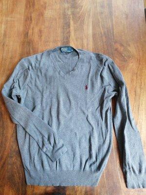 Polo Ralph Lauren Jersey con cuello de pico gris