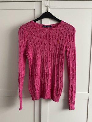 Ralph Lauren Jersey trenzado rosa