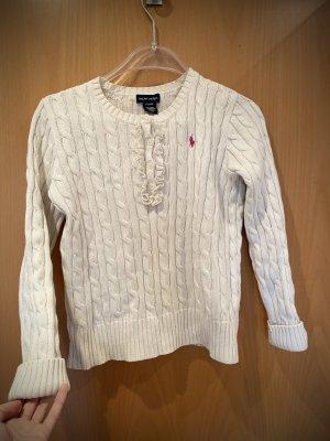 Ralph Lauren Pull tricoté blanc-rouge framboise