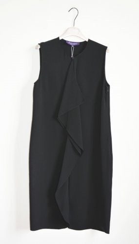 Flounce Dress black silk