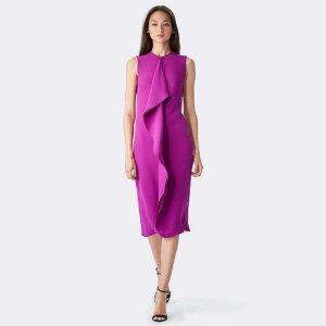 Flounce Dress violet silk