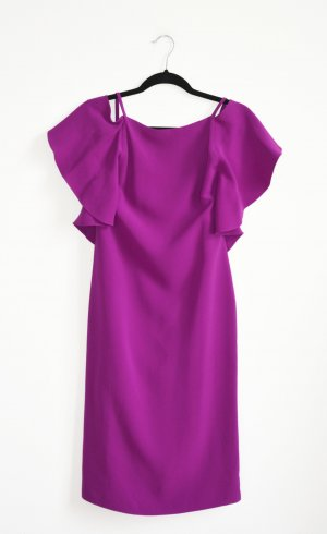Ralph Lauren Purple Label Kleid Seidenkleid Volants Seide CHARLOTTE US 4 DE 34