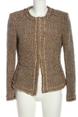 NVSCO Tweed blazer bruin gestippeld casual uitstraling
